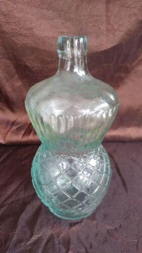"ANTIQUE Edgar Breffit & Co. 1886 GLASS BOTTLE Shape & Design Blown in Mold 8.5"""
