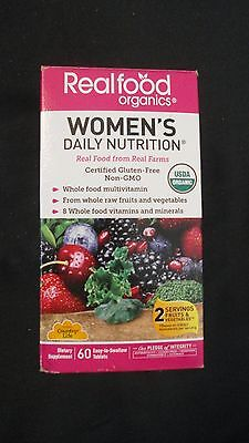 Country Life Realfood Organics Women's Daily Nutrition 60 Tablets USDA Organic ()