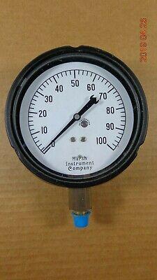 Vintage Marsh Instrument Co 100 Psi Precision Pressure Gauge 4.5 Dial Usa Steam