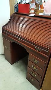 Roll Top Wooden Desk Mandurah Mandurah Area Preview