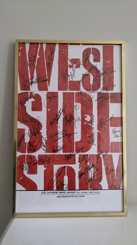 West Side Story Autographed Signed Poster 1990