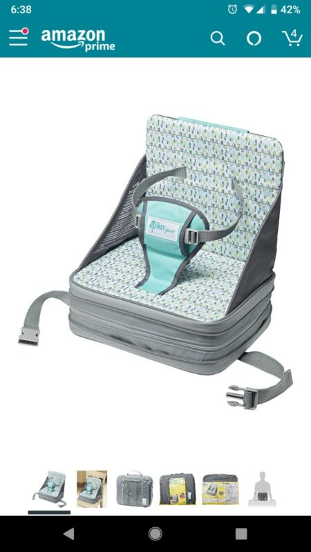 The First Years Portable Baby Booster High Chair Folding Seat Infant Travel