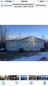 1000 sq ft radiant heated shop bay