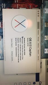 Good working condition MacBook + keyboard and mouse (broken)