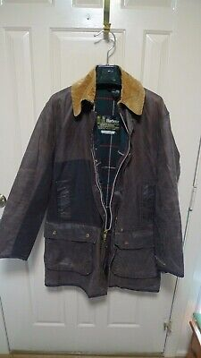 BARBOUR - A400 NORTHUMBRIA WAX COTTON  JACKET -VINTAGE- MADE@ UK--SHABBY CHIC-40