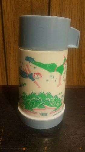 1969 Peter Pan Thermos Aladdin Walt Disney complete with cap and cup great cond