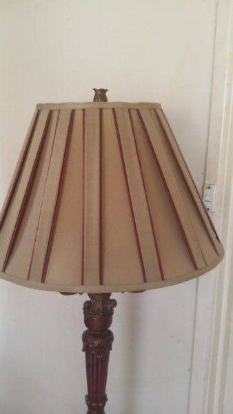 Wood and brass tall lamp floor lamps gumtree australia kingston area moorabbin 1175955154