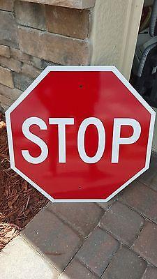 "STOP SIGN 24"" x 24"" Aluminum, Engineer Grade Reflective...LEGAL"