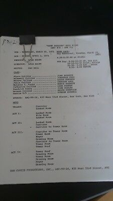 Dark Shadows 1971 TV Script - Final Episode