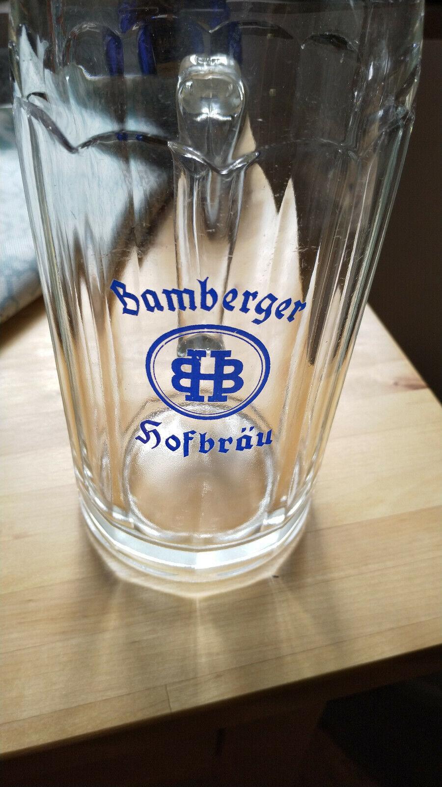 1 Liter Glaskrug Bamberger Hofbräu