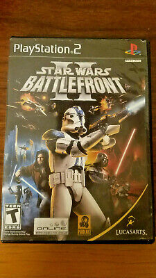 Star Wars Battlefront II PS2 CIB Tested Working Very Good Condition Black Label
