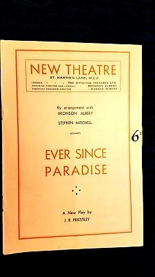 NEW THEATRE: EVERSINCE PARADISE - JANE CARR ROGER LIVESEY URSULA JEANS