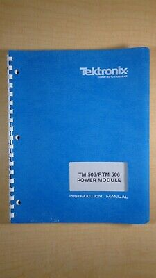 Tektronix Tm 506 Rtm 506 Power Module Instruction Manual 8c B3