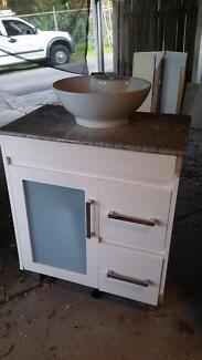 Bathroom vanity marble top & sink. 750W x 460D Wamberal Gosford Area Preview
