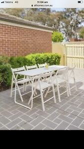 IKEA folding table and 6 chairs