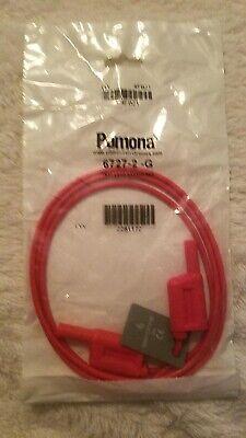 Pomona 6727-2-g 1000v Catiii Test Lead Banana Red