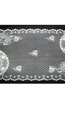 "Heritage Lace ""Teatime W/dark Rose TT 1236W-F White"