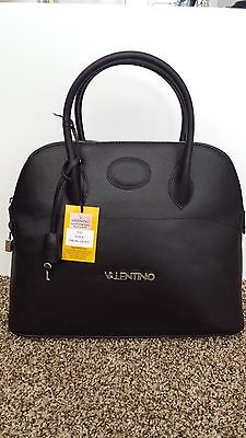 NWT VALENTINO BY MARIO VALENTINO CERI BLACK TEXTURED LEATHER BAG PURSE