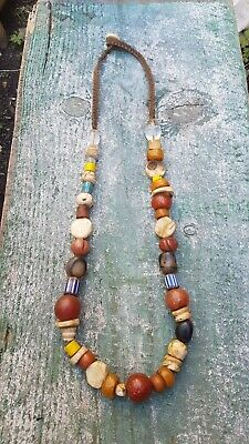 Vintage semiprecius stones & glass Trade Beads