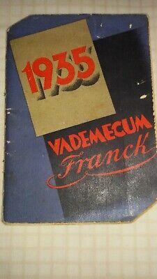 VADEMECUM FRANCK - CALENDARIO  CAFFE' - VARIE . RARO ANNO INTROVABILE 1935...!! comprar usado  Enviando para Brazil