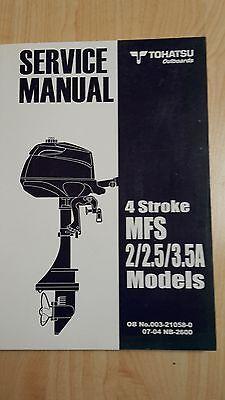 TOHATSU MFS2 MFS2.5 MFS3.5A SERVICE MANUAL OUTBOARDS AUSSENBORDER