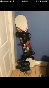 Snowboard, Bindings & Boots.