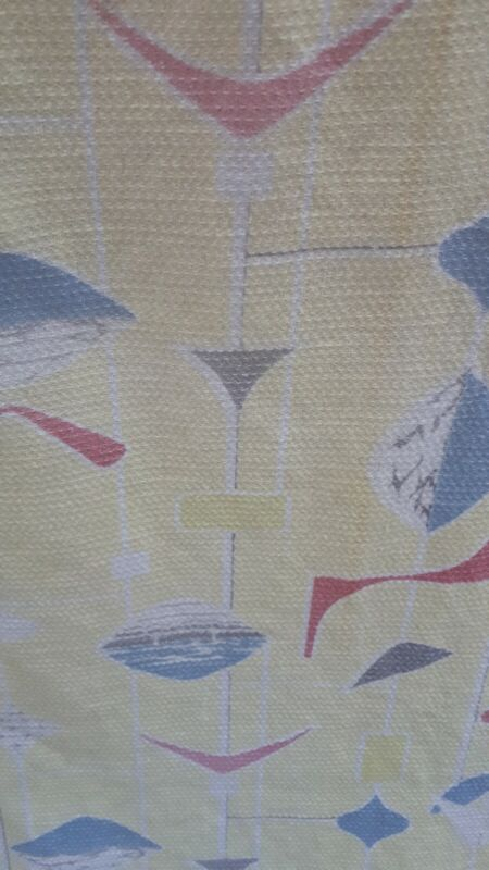 Original Lucienne Day style pair of curtains