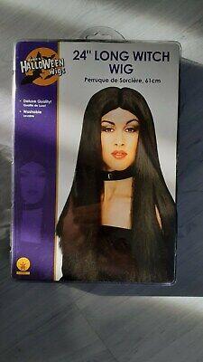 Halloween Fasching  Perücken Damen schwarze lange Haare