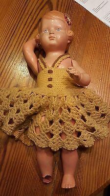 Puppe Schildkröt, alt,  Größe ca. 26cm