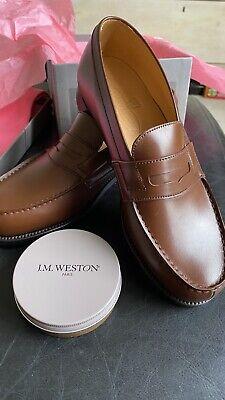 JM Weston Brand New Tan Signature Loafer Size UK 4
