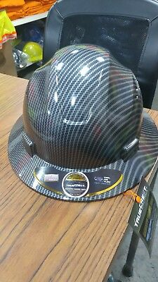 Hdpe Full Brim Hard Hat With Fas-trac Suspension Polyethylene Ansi