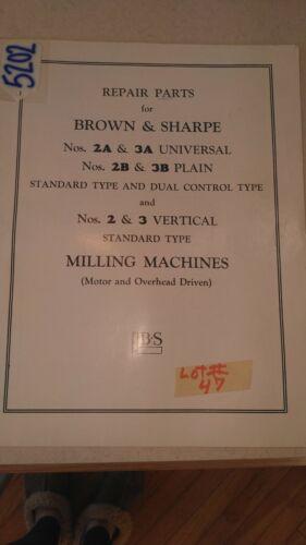 Brown & Sharpe Repair Parts Book (with diagrams)
