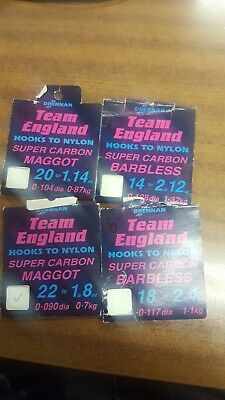 Drennan team england hooks to nylon - used, part packs