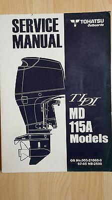 TOHATSU MD115A TLDI SERVICE MANUAL OUTBOARDS AUSSENBORDER