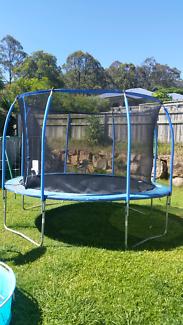 12ft springless trampoline 2yrs old