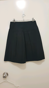 Black Cue Work Skirt Size 8