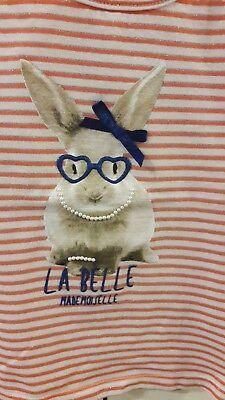 °°° Superbe T-shirt lapin avec relief JBC T.98 °°° d'occasion  Jemeppe-sur-Sambre