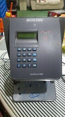 Schlage Hp-3000 Biometric Handpunch Time Clock Bundled Ac Adapter G2
