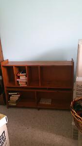 Solid timber bookshelf Golden Beach Caloundra Area Preview