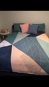Adairs queen quilt cover Cameron Park Lake Macquarie Area Preview