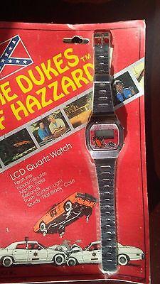 Collectible Dukes of Hazzard TV Television LCD Quartz Digital Watch Calendar NIP