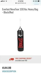 Boxing - 100lb punching bag and stand