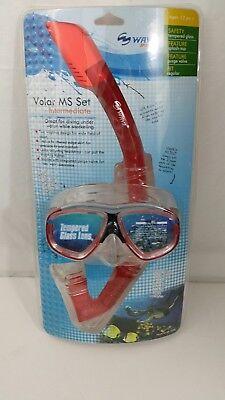 Wave Snorkel & Mask Visio MS Set Intermediate Age 12+ Color RED