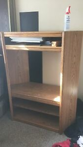 Oak Finish TV and Entertainment Stand $100 OBO