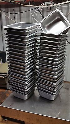 53 Steam Buffet Table Pan 7 X 6-38 X 2-12 D Stainless Steel Half Third Quarter