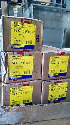 Square D Edb34050 3pole 50amp 480v Circuit Breaker Type Nf New In Box