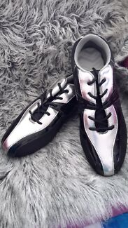BLACK & SILVER JOGGERS - SIZE 10 Manunda Cairns City Preview