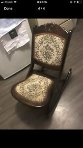 Antique folding rocking chair
