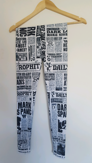 "Black Milk ""Daily Prophet"" Harry Potter leggings"