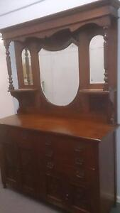 Antique Edwardian Dresser/sideboard 2-piece Stanmore Marrickville Area Preview